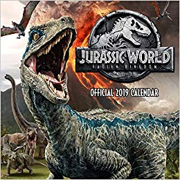 2019 Official Calendar Square Jurassic World