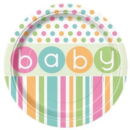 Polka dot Baby shower Plates