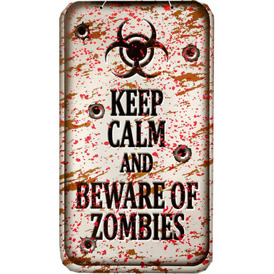 Keep Calm And Beware Of Zombies Plaque Halloween