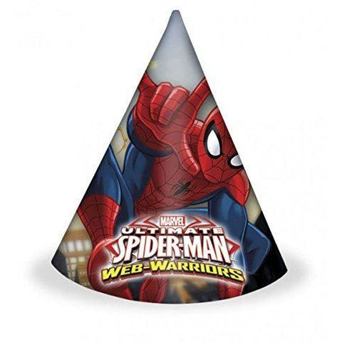 HATS PARTY 6CT,  ULTIMATE SPIDER-MAN