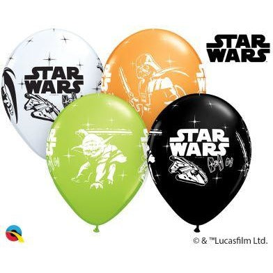 12'' Star Wars Darth Vader & Yoda Latex Balloon Retail Pack