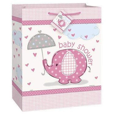 Umbrellaphants Large Gift Bag Pink