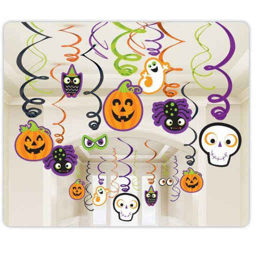 Amscan Halloween Family Friendly Halloween Swirl Decorations 30pk