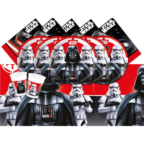 Star Wars Set for 8- Includes 8 Cups, 8 Plates, 16 Napkins, 1 Table cover