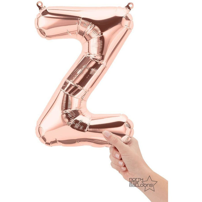 North Star Rose Gold Letter Z 16""