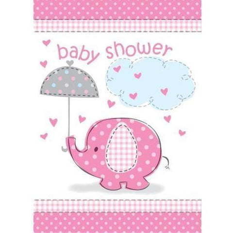 Umbrellaphants Pink Invitations, 8ct