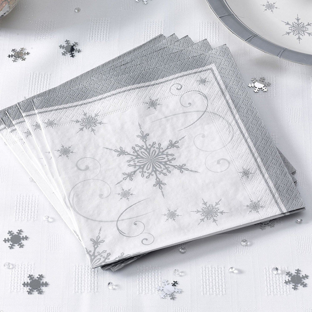 Snowflake - Place Card on Glass White
