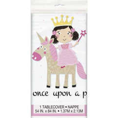 Princess Unicorn Plastic Tablecover 54X84