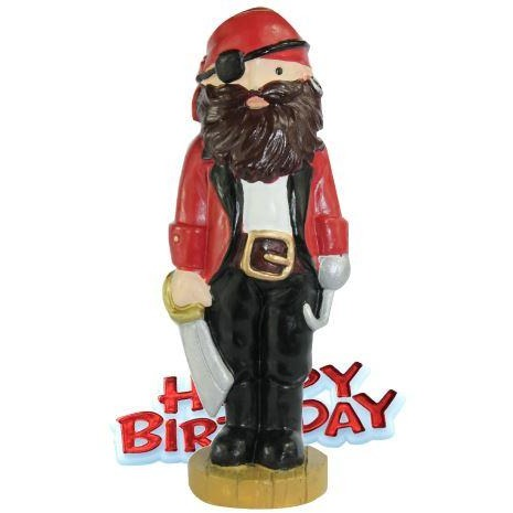 Pirate Resin Cake Topper & Red Happy Birthday Motto Mini Mister  - End of line