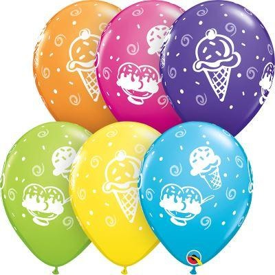 Ice Cream Treats Latex Balloons X25