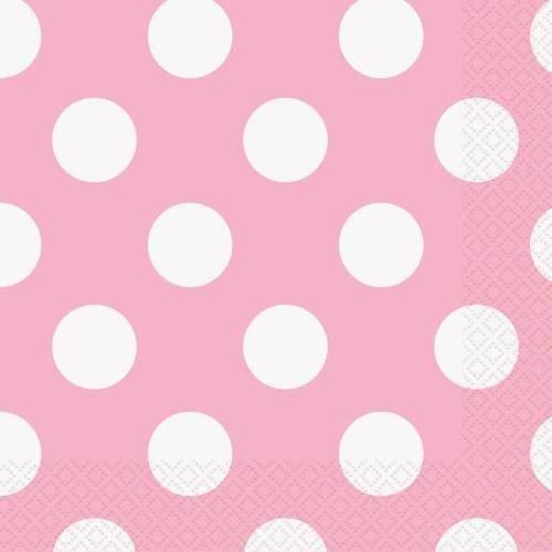 Lovely Pink Dots Beverage Napkins, 16ct