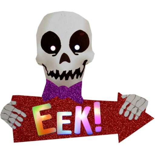 Character Lights Arrow Sign Skull 'Eek' Davies Halloween