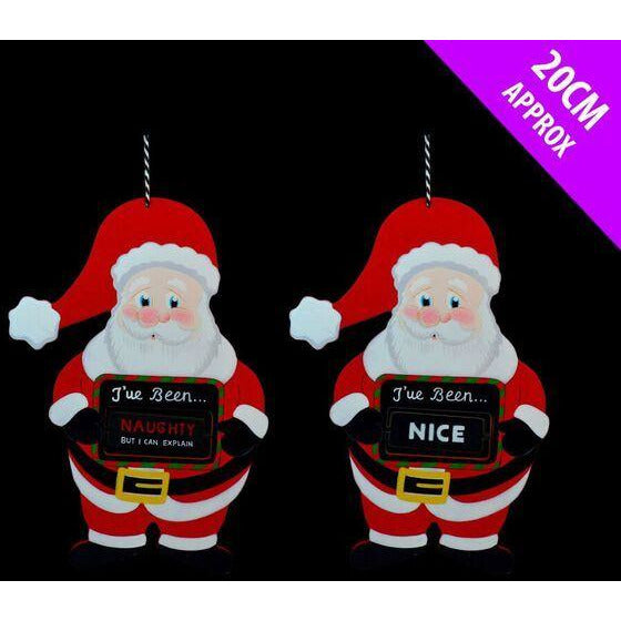 Naughty Or Nice Santa Hanger Davies Christmas