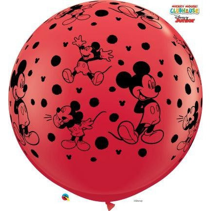 3FT  RND  RED&P BLUE      02CT,  DN MICKEY MOUSE-A-RND