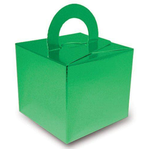 20 Cake Box Balloon Weights Metallic Green