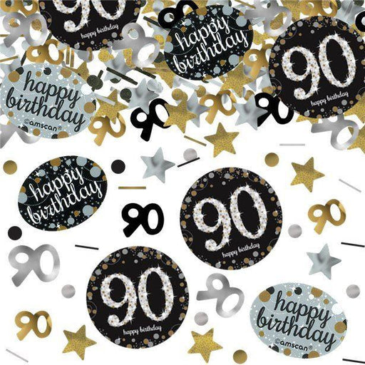 Amscan Gold Sparkling Celebration Confetti Age 90