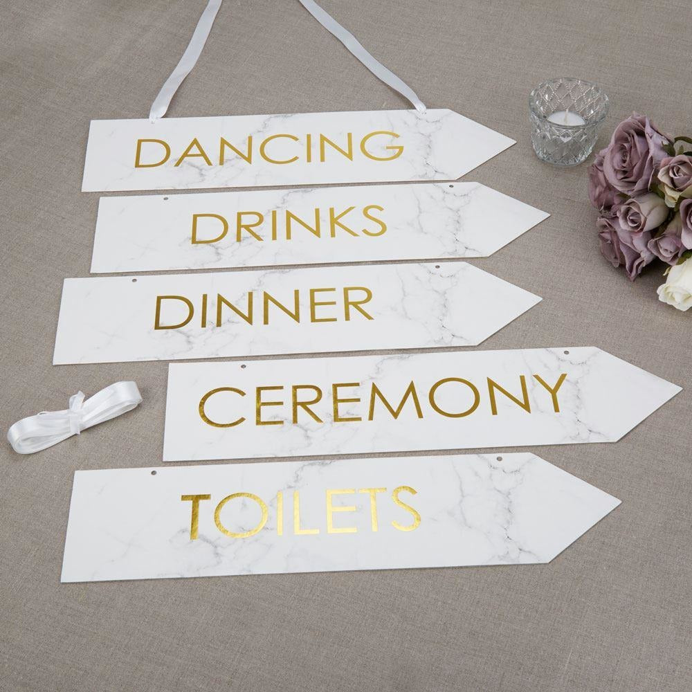 Scripted Marble - Wedding Signs