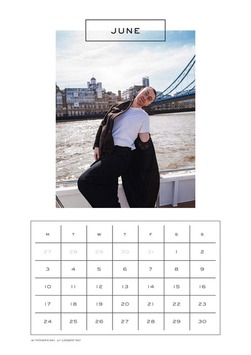 2019 Official Calendar A3 Sam Smith