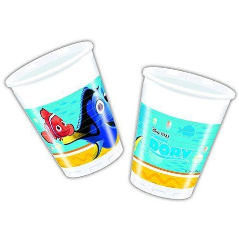 CUPS PLASTIC 200ML 8CT,  FINDING DORY