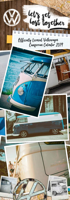 2019 Official Calendar Slim VW Camper Vans