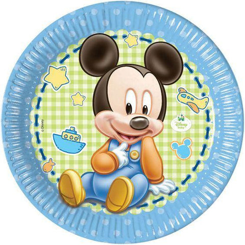 Baby Mickey Plates (end of line) do not order