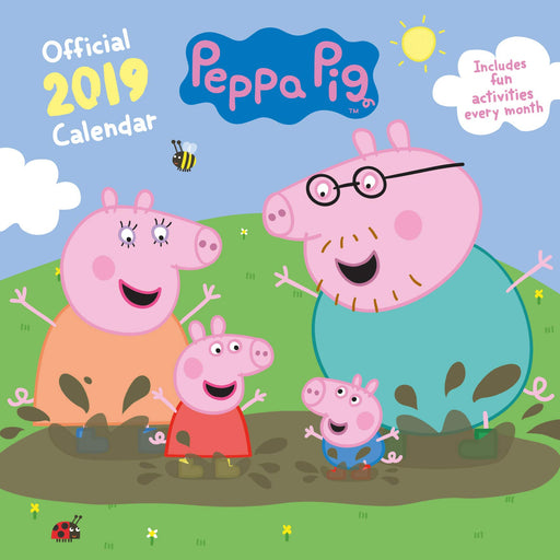 2019 Official Calendar Square Peppa Pig