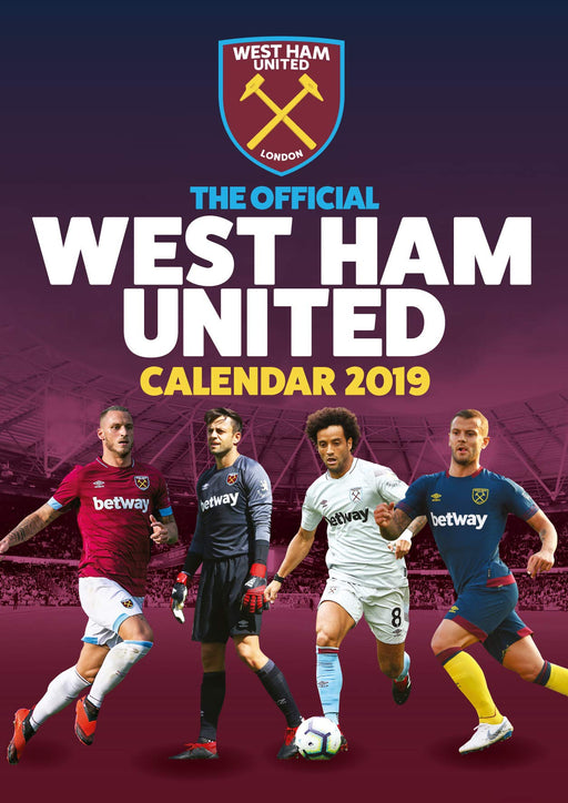 2019 Official Calendar A3 West Ham FC