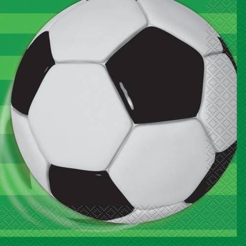 16 3D Soccer Lunch Napkins (Also Upstairs) - Due 14/08/2018