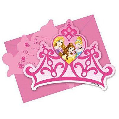 INVITATIONS & ENVELOPES 6CT,  DISNEY PRINCESS