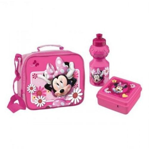 Minnie Mouse Lunch Bag(Snack container + Sport Bottle)