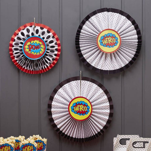 Comic Superhero PinWheel Decorations- end of line
