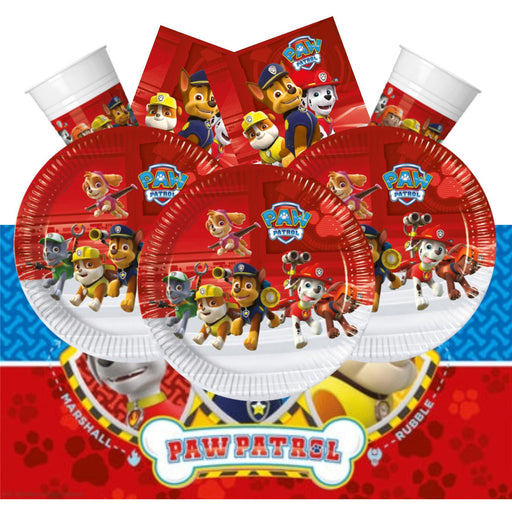 Paw Patrol Set for 16 (Plates, Cups, Napkins, Tablecover)