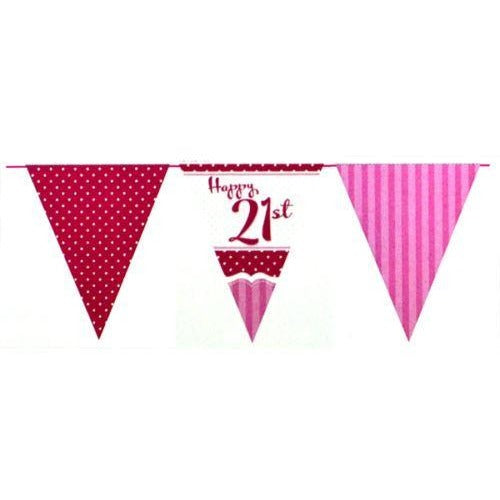 Perfectly Pink Bunting 21st