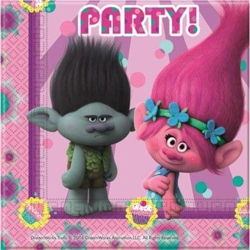 NAPKINS PAPER TWO-PLY 20CT,  TROLLS