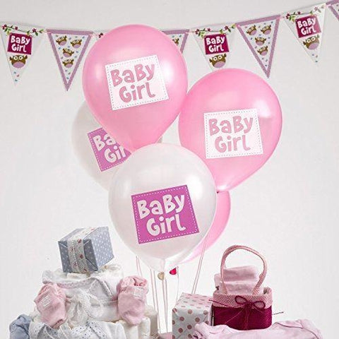Little Owls - Baby Girl Balloons - 8 - Pink