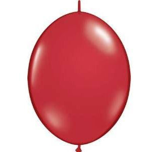 "12"" QLINK RUBY RED      50CT QUALATEX QUICK LINK BALLOONS"