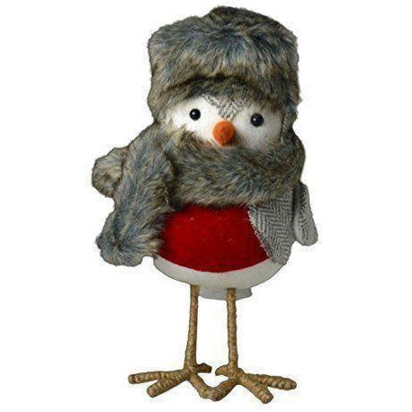 Christmas Standing Cosy Robin Decoration