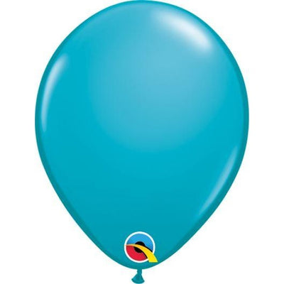 "05""  RND  TROPICAL TEAL  100CT QUALATEX PLAIN LATEX"