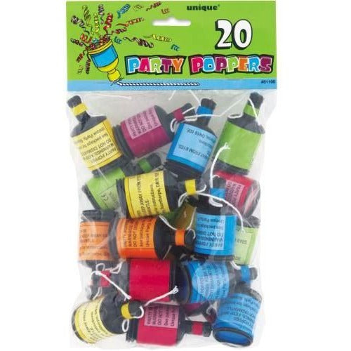 Party Poppers, 20ct
