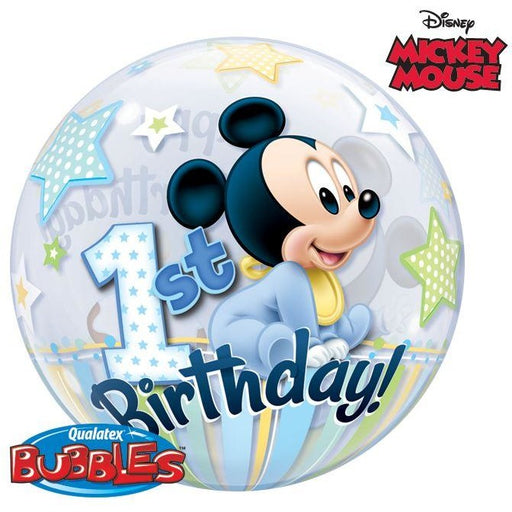 "22""  SINGLE BUBBLE        01CT,  DN MICKEY MOUSE 1ST BDAY"