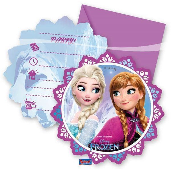 INVITATIONS & ENVELOPES 6CT,  DISNEY FROZEN