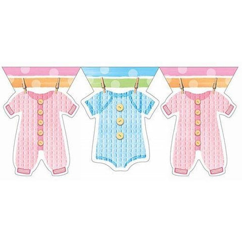 Baby Clothes Line Flag Banner
