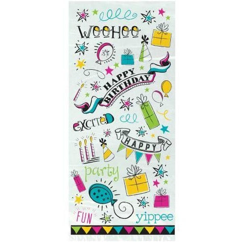 20 Doodle Birthday Cello Bags