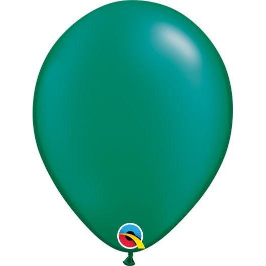 "11""  RND  PRL EMERALD     25CT,  QUALATEX PLAIN LATEX"