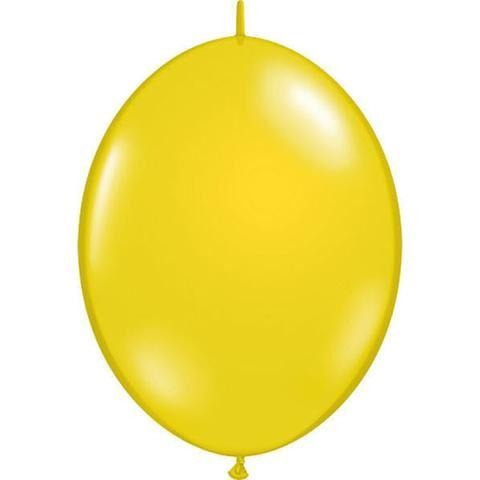 "12"" QLINK CTRN YELLOW     50CT,  QUALATEX QUICK LINK BALLOONS"