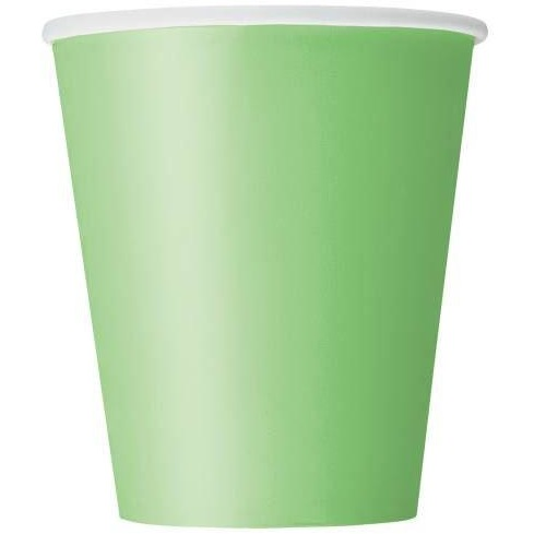 8 Lime Green 9 oz. Cups