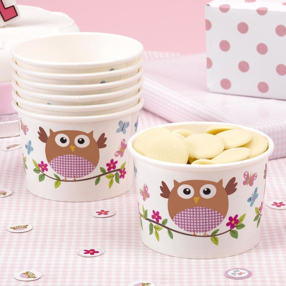 Little Owl Treat Tub Pink - END OF LINE (CLR:4)