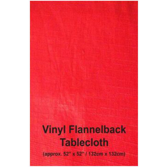 Red Vinyl Flannelback Tablecloth Davies Christmas