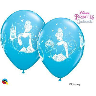 12'' Cinderella Blue & White Latex Balloons Retail Pack