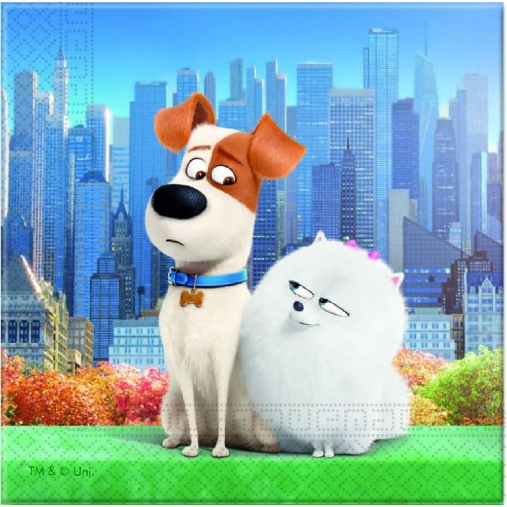 NAPKINS PAPER TWO-PLY 20CT,  THE SECRET LIFE OF PETS
